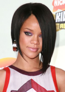 Rihanna, round face hairstyles, round face celebrities, hairstyles