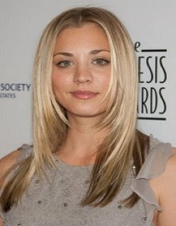 Kaley Cuoco, round face hairstyles, round face celebrities, hairstyles